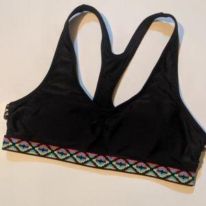 Mossimo Black Bikini Top W Colorful Aztec Lining